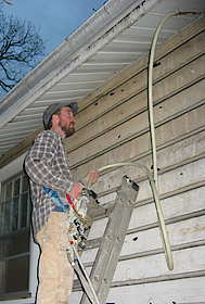 Insulating a lapped siding home
